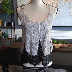 4/$20 H&M Speckled Lacey  Tank Top NWT